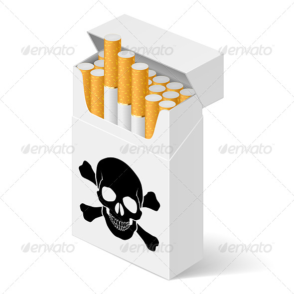 GraphicRiver White Pack of Cigarettes 5171910