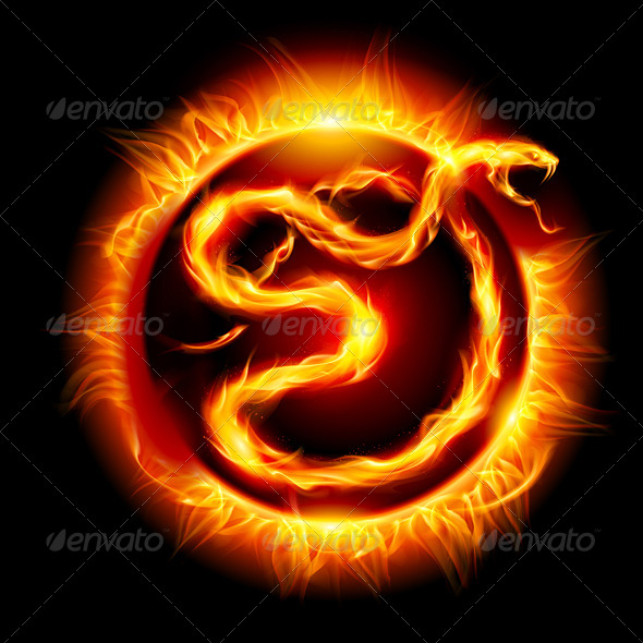 GraphicRiver Snake made of Flames 5171918