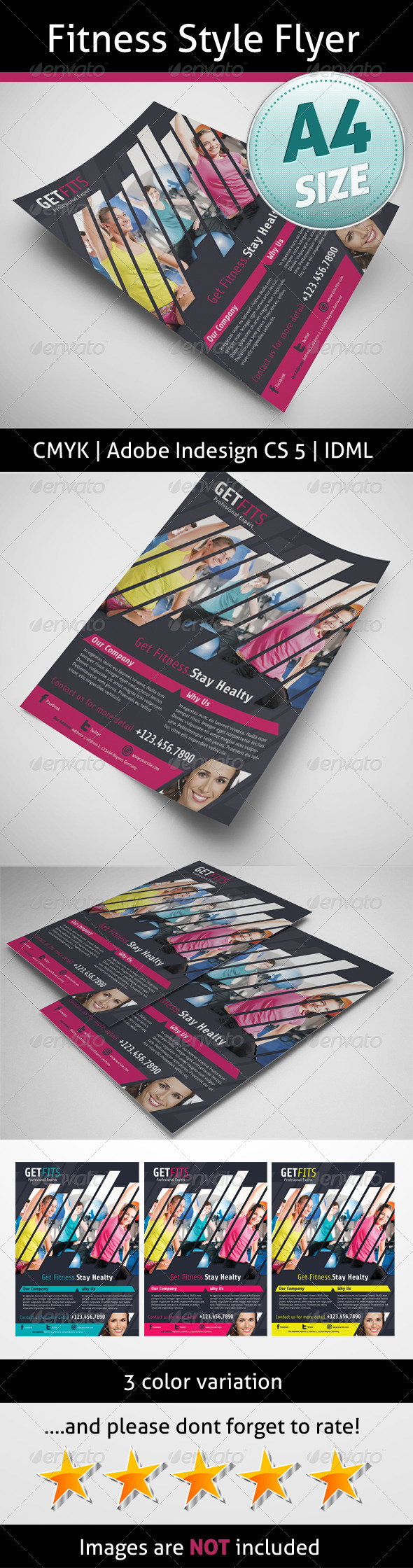 GraphicRiver Fitness Style Flyer 5171953