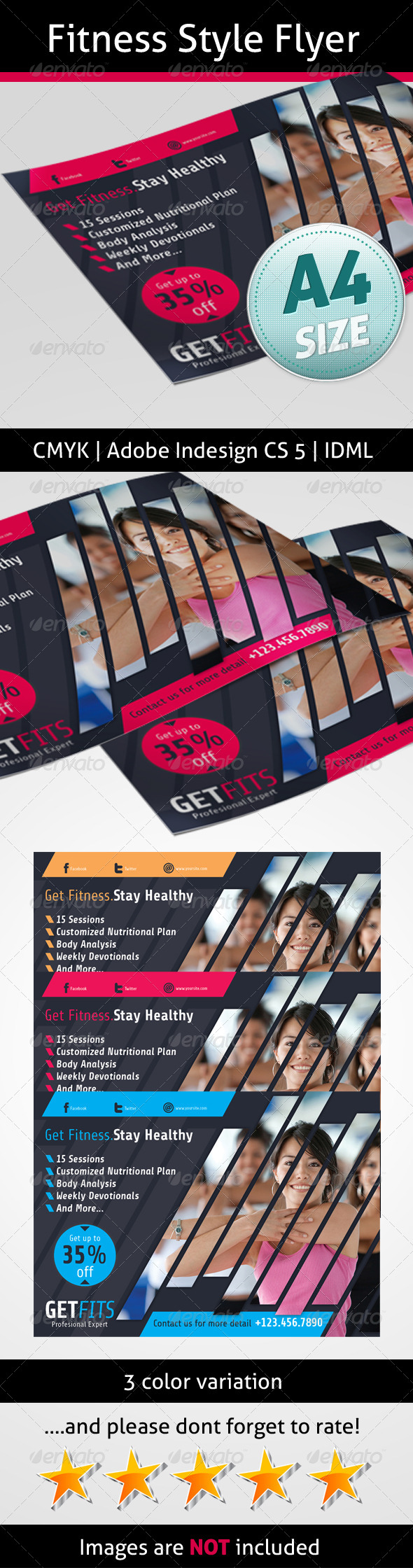 GraphicRiver Fitness Style Flyer 5171966