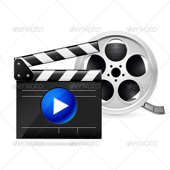 GraphicRiver Movie Clapboard and Reel of Film 5172796