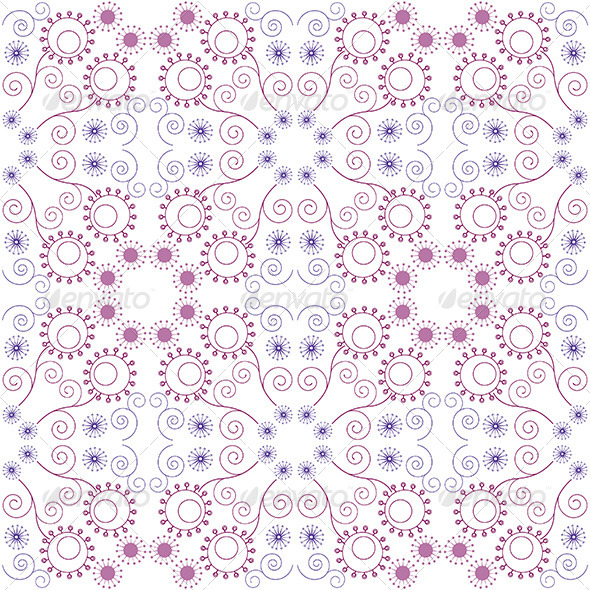 GraphicRiver Purple Floral Seamless Pattern 5173567