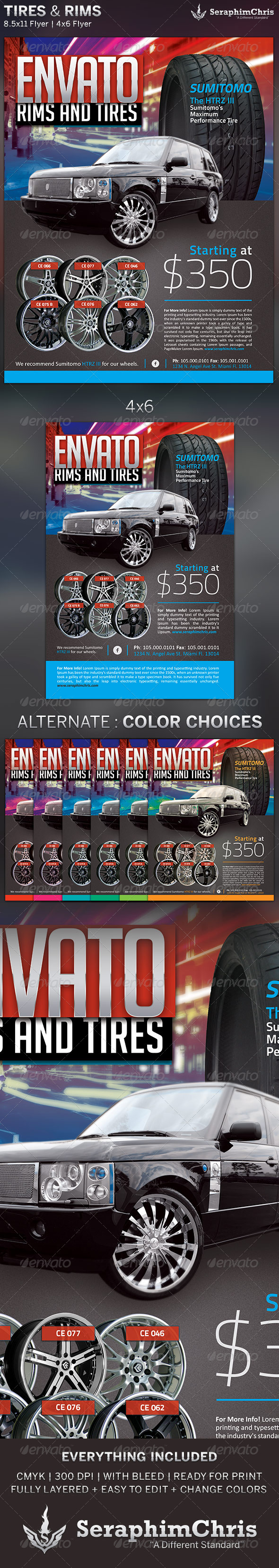 GraphicRiver Tires and Rims Sales Ad Flyer Template 2 5173666