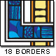 18 'Stained Glass' Borders/Frames - GraphicRiver Item for Sale