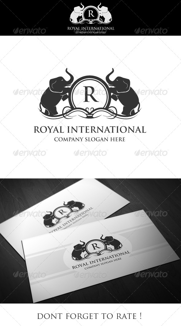 Royal International Logo Template