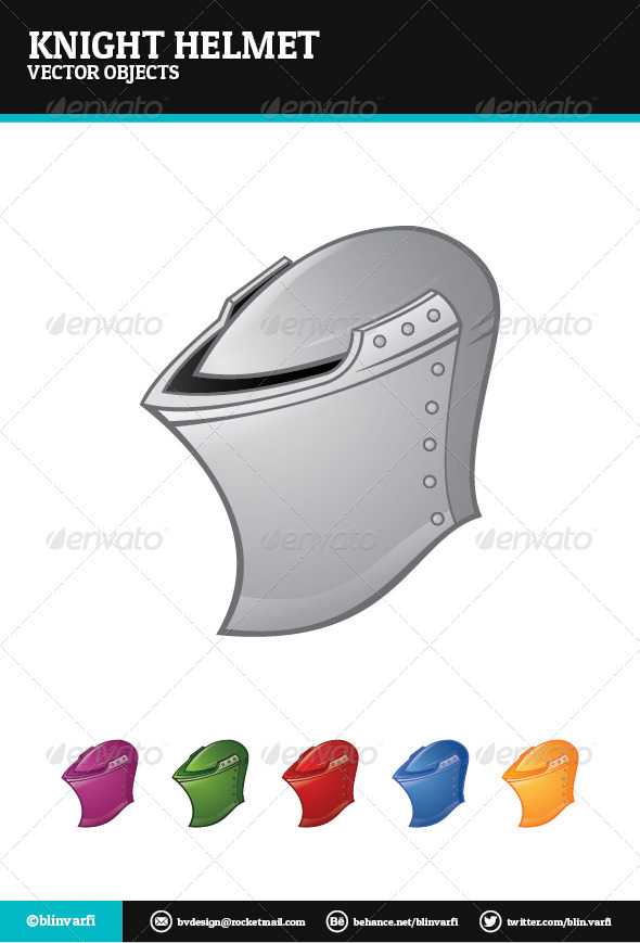 Knight Helmet - Objects Vectors