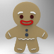Gingerbread Man Low Poly