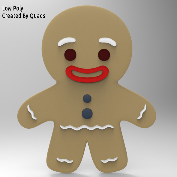 3DOcean Gingerbread Man Low Poly 5173937