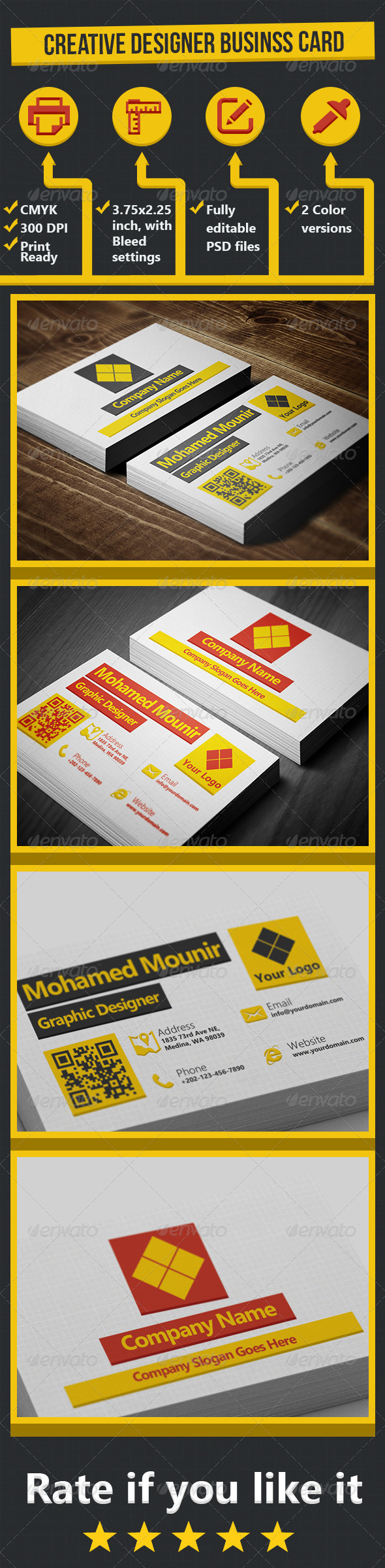 GraphicRiver Creative Designer Business Card 5105200