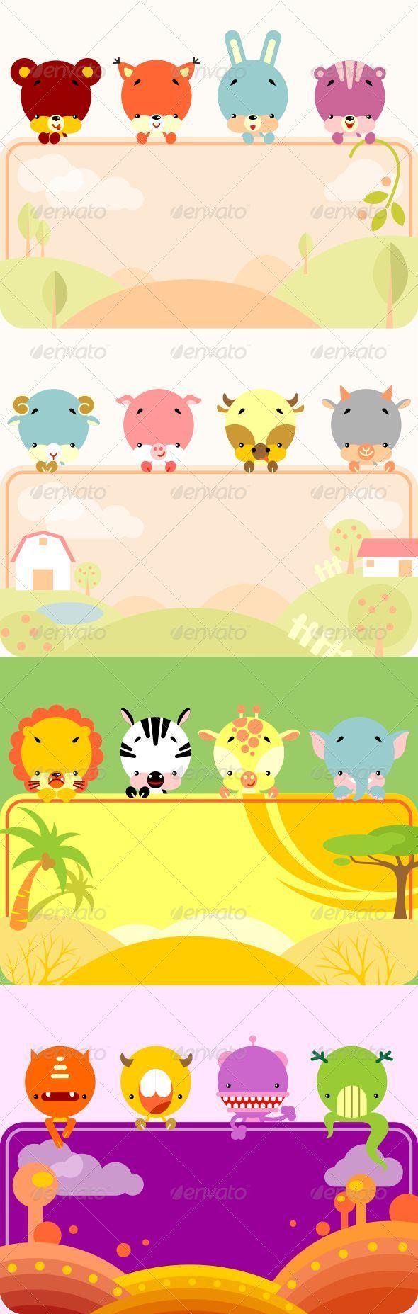 GraphicRiver Fun Animals Banner 5174156