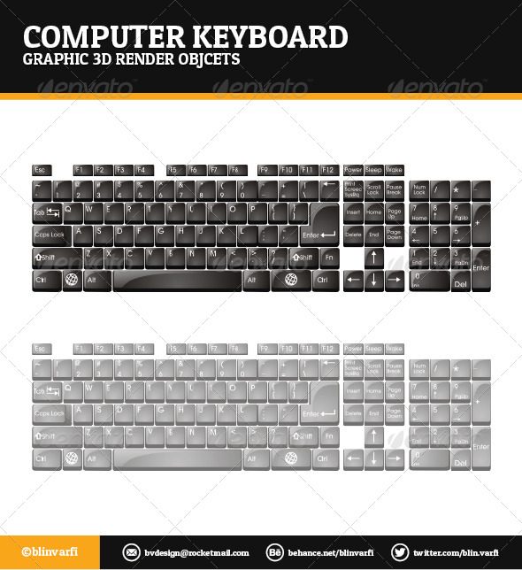 Computer Keyboard - Objects 3D Renders