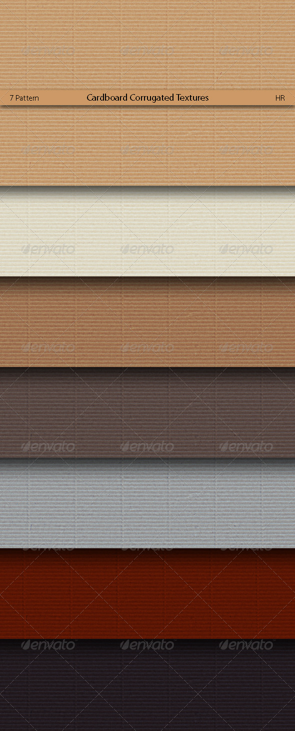GraphicRiver Cardboard Corrugated Patterns 5174232