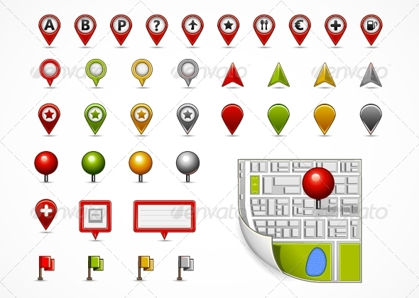 GraphicRiver Map Navigation Icons 5174399