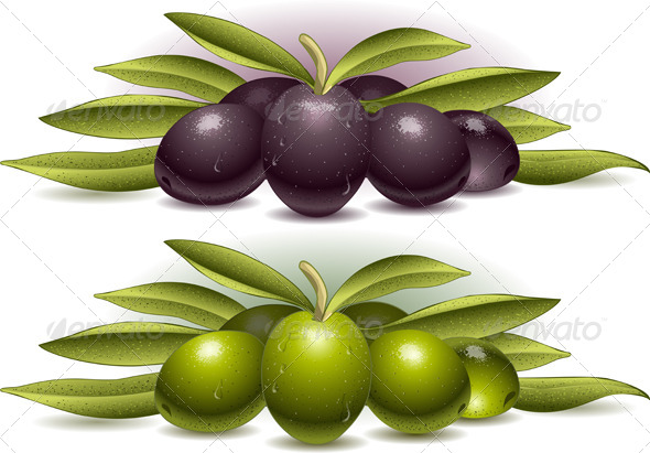 GraphicRiver Two Compositions of Olives 5174543
