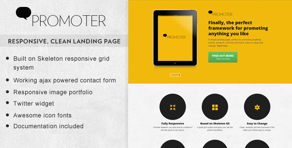 Promoter - Responsive landing page