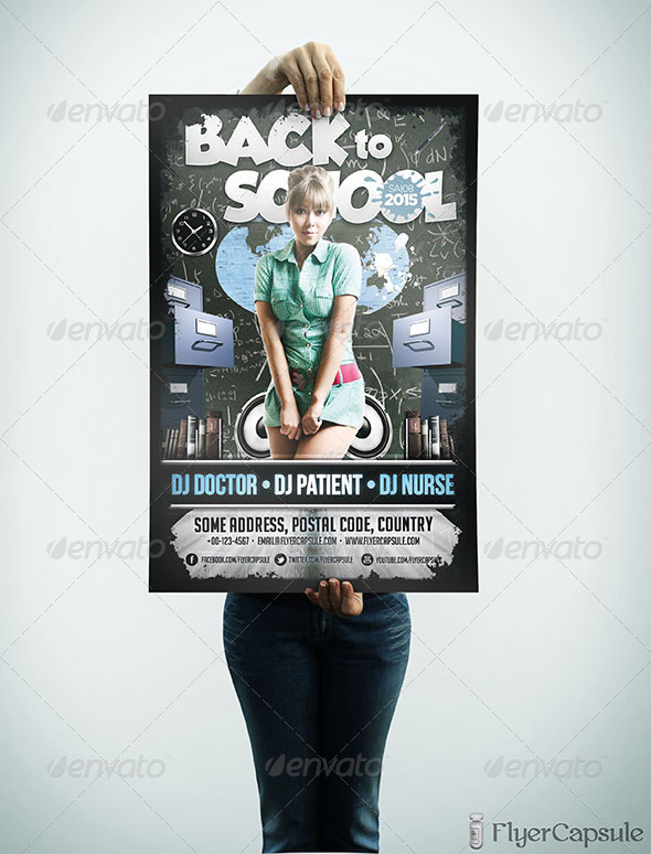 GraphicRiver Back to School Flyer Template 5174631