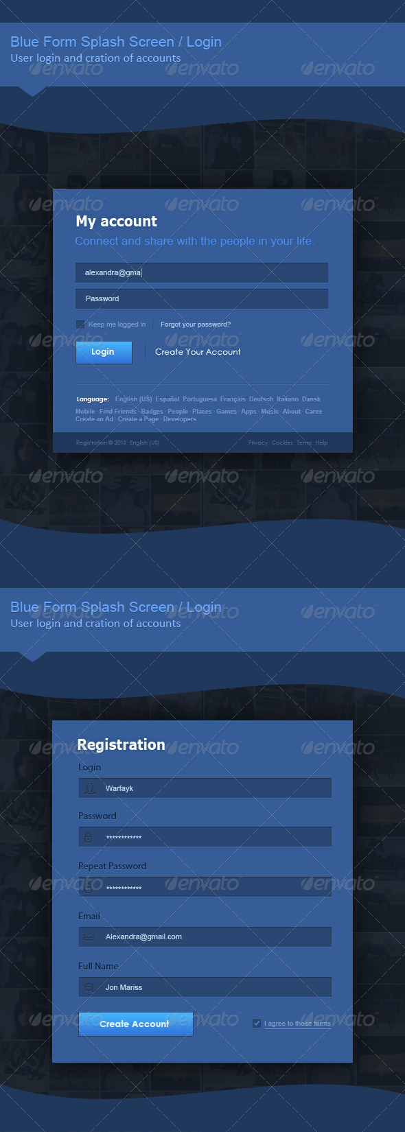 GraphicRiver Fb Registration Form 5151006
