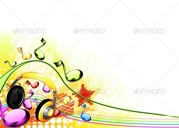 GraphicRiver Music Background 5174695