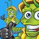 Centipede Construction Worker Mascot