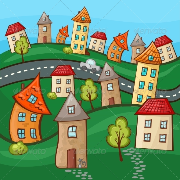 GraphicRiver Suburbs and Houses 5174942