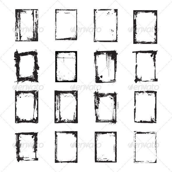 GraphicRiver Grunge Frame 5175035