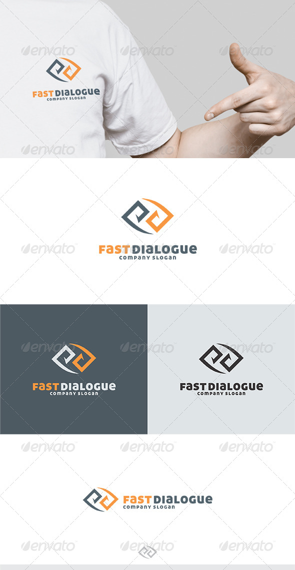 GraphicRiver Fast Dialogue Logo 5175039
