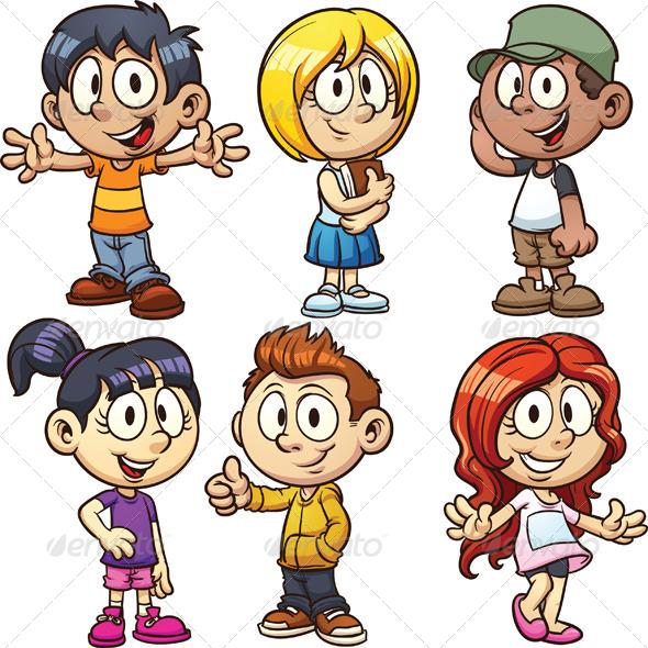 GraphicRiver Cartoon Kids 5175549