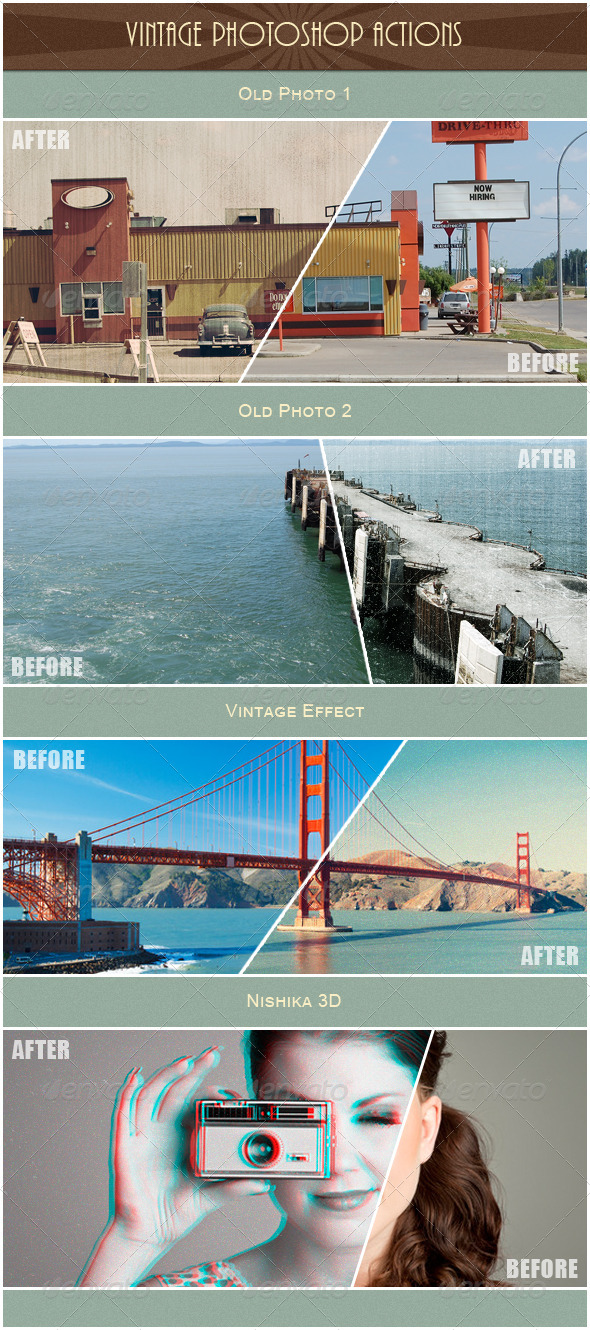 GraphicRiver Vintage Photoshop Actions 5175566