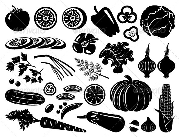GraphicRiver Set of Icons of Vegetables 5175568