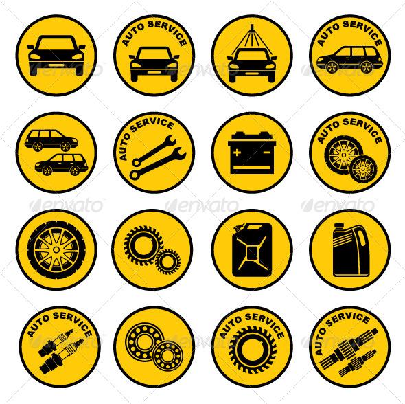 GraphicRiver Car Repair Service Icon 5175579