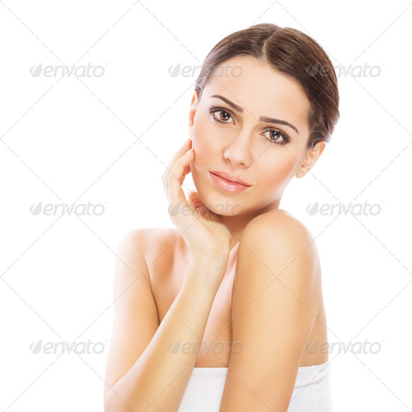 Gorgeous young woman with perfect skin - Stock Photo - Images
