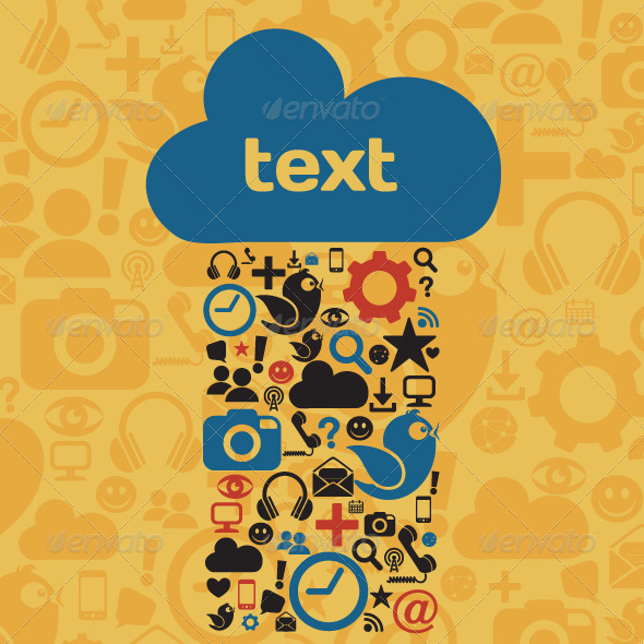 GraphicRiver Social Media Cloud 5176770
