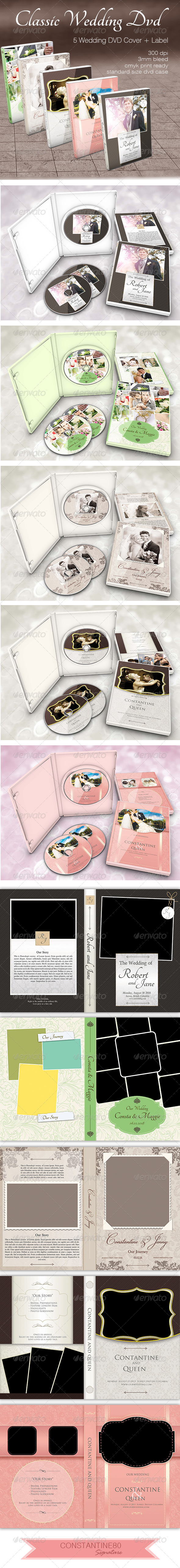 Classic Wedding Dvd - CD & DVD Artwork Print Templates