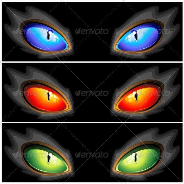 Cat Eyes Set of Three Colors