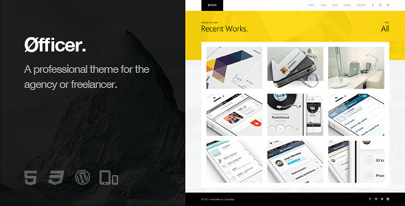 Øfficer - Responsive WordPress Theme