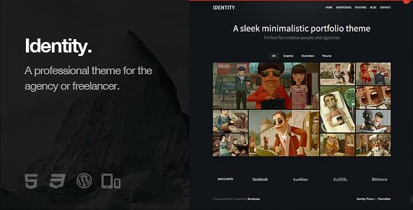Identity - Responsive WordPress Theme - Portfolio Creative