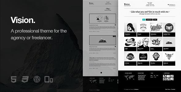 Vision - Responsive WordPress Theme - Portfolio Creative