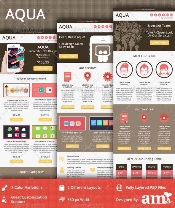 GraphicRiver AQUA Modern Clean Email Template 5177095
