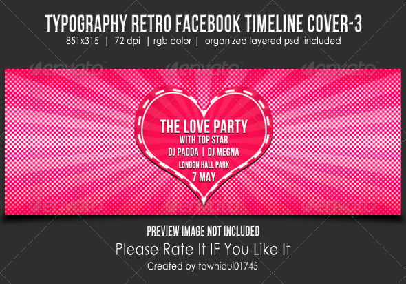 GraphicRiver Typography Retro Facebook Timeline Cover-3 5177134