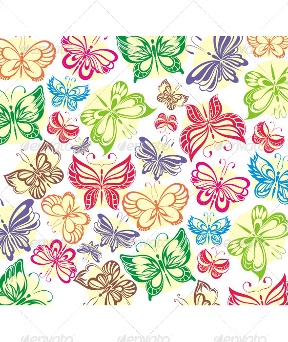 GraphicRiver Butterflies 5177139