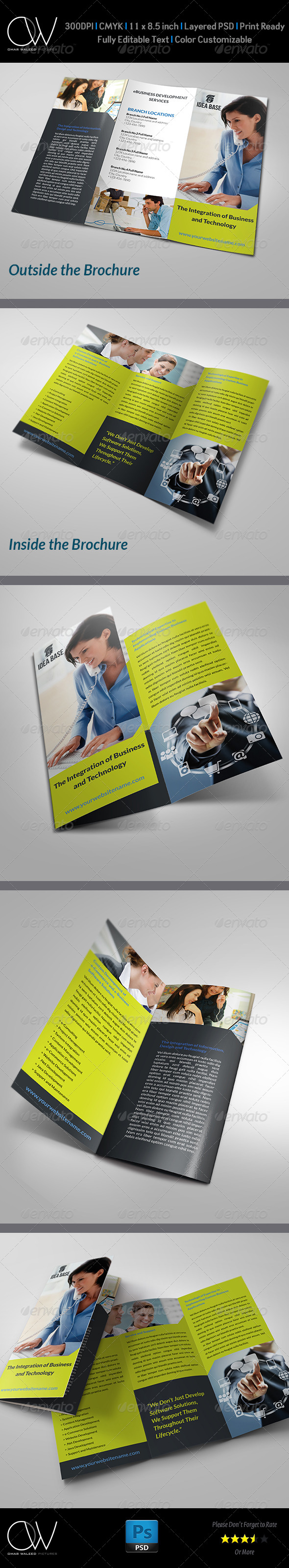 GraphicRiver Technology Business Tri-Fold Brochure 5177166