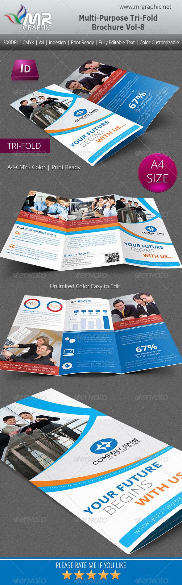 GraphicRiver Multipurpose Business Tri-Fold Brochure Vol-8 5116850