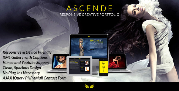 ThemeForest Ascende Responsive Photo & Video Portfolio Gallery 5160256
