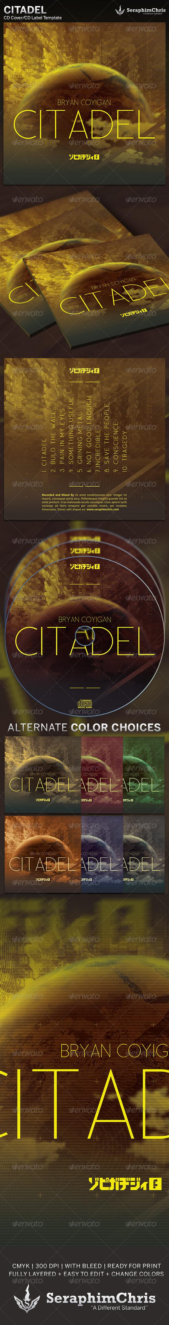 GraphicRiver Citadel CD Cover Artwork Template 5177798