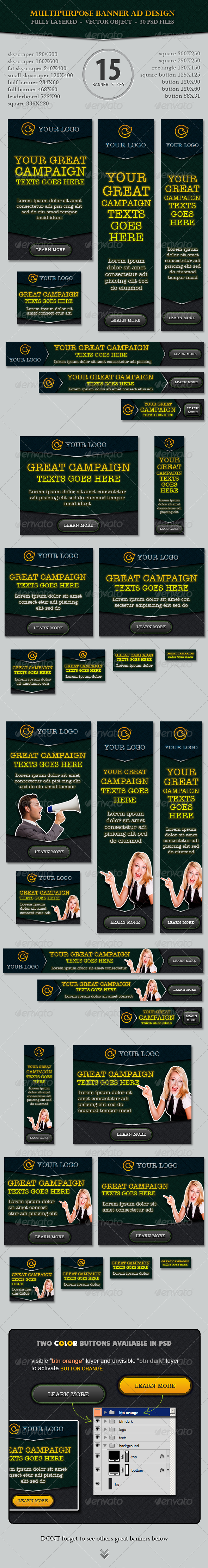 Multipurpose Banner ad Design