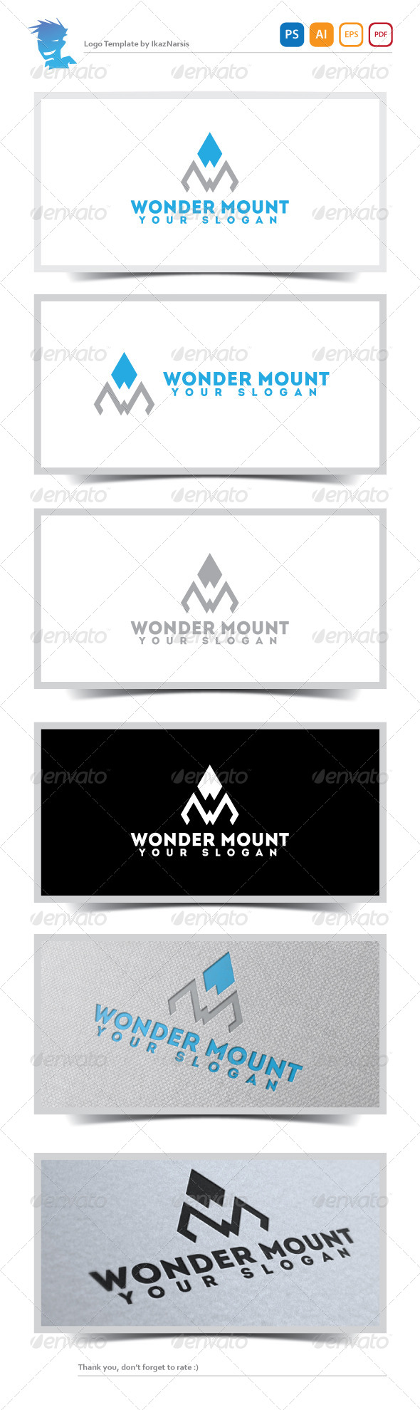 Wonder Mount Logo Template - Letters Logo Templates