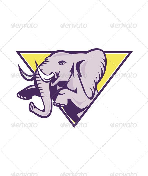 GraphicRiver Elephant Prancing Triangle 5178193