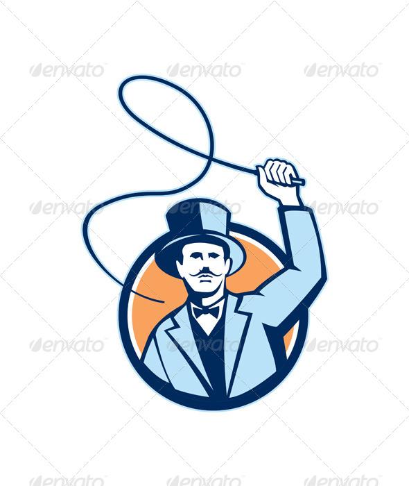GraphicRiver Ringleader Ringmaster Whip Circle Retro 5178210