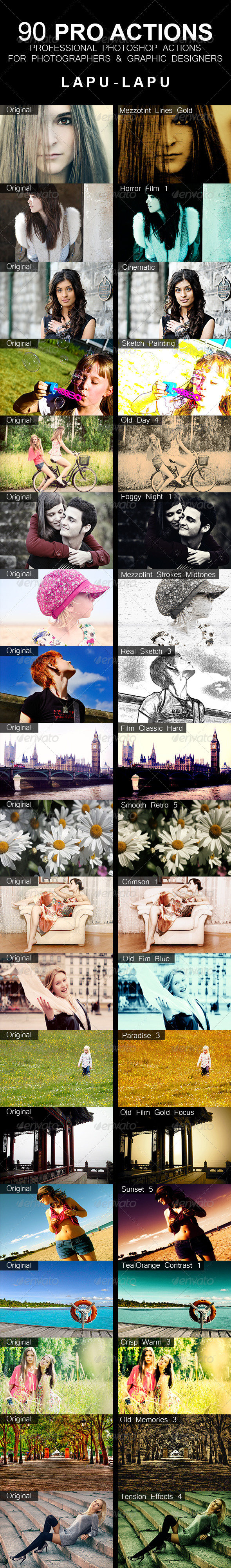 GraphicRiver 90 Pro Actions 5178213