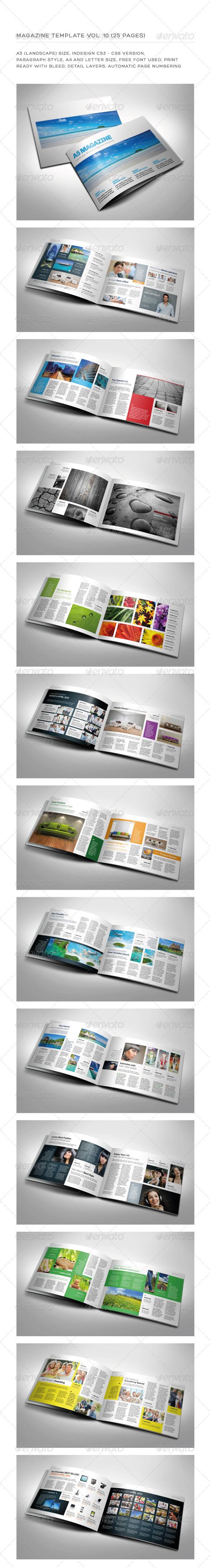 A5 Landscape 25 Pages mgz (Vol. 10) - Magazines Print Templates